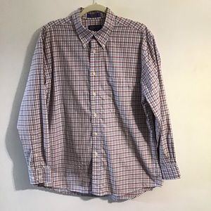 Pendleton Broadway Cloth plaid button down. Large
